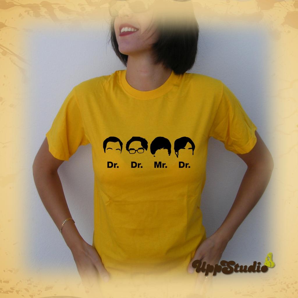 Camiseta Big Bang Theory Dr Dr Mr Dr Sheldon Cooper Leonard Hofstadter Howard Wolowitz Rajesh Ramayan Koothrappali | UppStudio