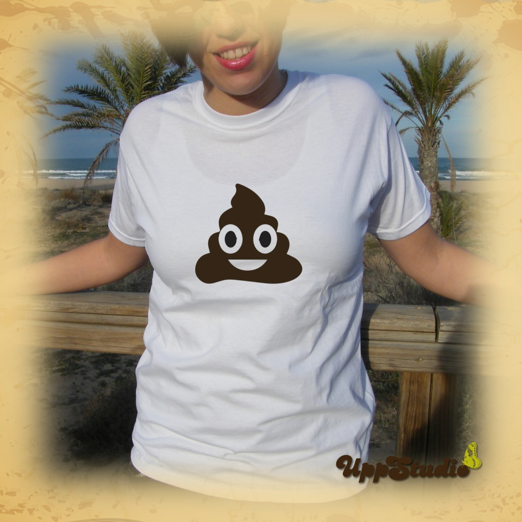 Camiseta Caca WhatsApp Emoticono Emoji | UppStudio