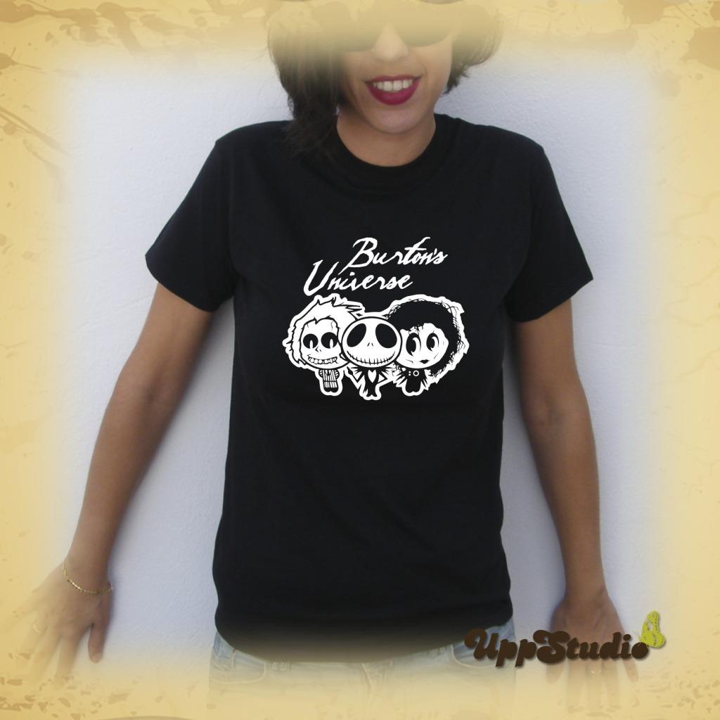 Camiseta Tim Burton Universe Home For Imaginary Friends Jack Skellington Eduardo Manostijeras Edward Scissorhands Bitelchús Beetlejuice | UppStudio
