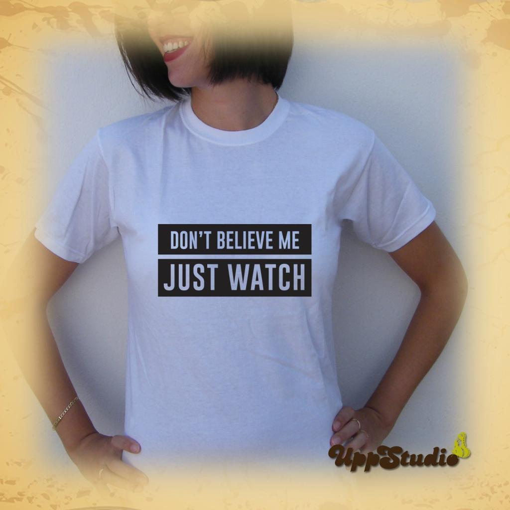 Camiseta Bruno Mars Uptown Funk Don't Believe Me Just Watch | UppStudio
