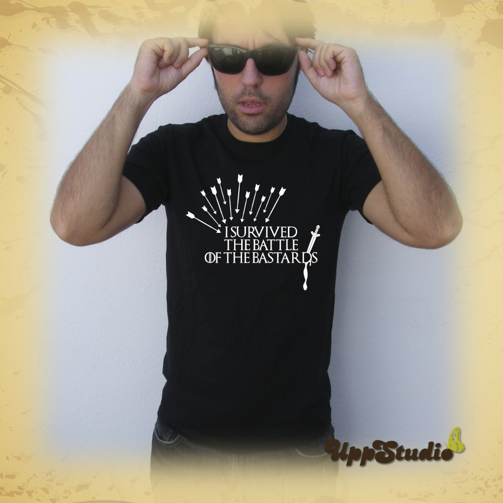 Camiseta I Survived The Battle Of The Bastards T-Shirt Tee Juego De Tronos Game Of Thrones   UppStudio