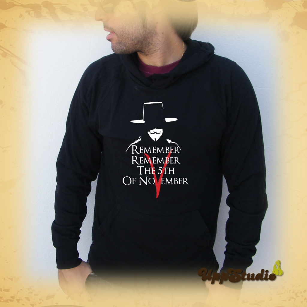 Sudadera V de Vendetta | Remember | UppStudio