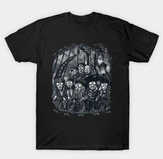 Camiseta Piratas del Caribe | Black Pearl | TeePublic